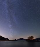 Milky Way and Anvil Island Royalty Free Stock Photo