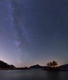 Milky Way and Anvil Island Royalty Free Stock Photo