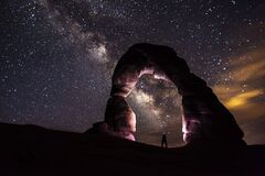 Milky Way at Arches National Park Royalty Free Stock Photography