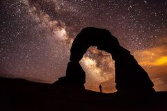 Milky Way at Arches National Park Stock Photography