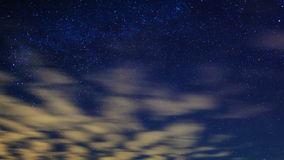 Milky way around the pole star. Time Lapse stock footage