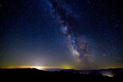 The Milky Way, Washington State. The Milky Way as seen from the top of Sugarloaf Peak in Washington State Royalty Free Stock Images