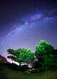 Milky Way. Beautiful summer night. In Crimea Royalty Free Stock Images