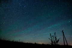 Milky Way. Beautiful summer night sky with stars Stock Photography