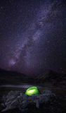 Milky way camping Stock Images