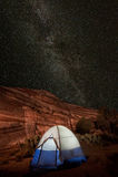 Milky Way Campsite Stock Photos