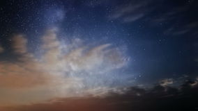 Milky Way and clouds stock video footage