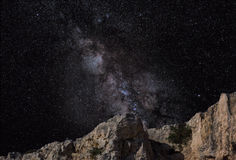 Milky Way. The Milky Way in correct astronomical and scientific colours royalty free stock image
