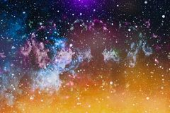 Milky way cosmic background. Star dust and pixie dust glitter space backdrop. Space stars and planet conceptual image. Stock Photo