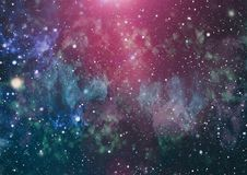 Milky way cosmic background. Star dust and pixie dust glitter space backdrop. Space stars and planet conceptual image. Stock Photos