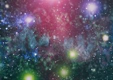 Milky way cosmic background. Star dust and pixie dust glitter space backdrop. Space stars and planet conceptual image. Royalty Free Stock Photography