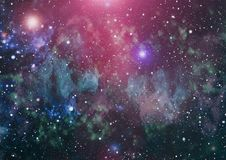 Milky way cosmic background. Star dust and pixie dust glitter space backdrop. Space stars and planet conceptual image. Royalty Free Stock Photos