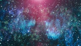 Milky way cosmic background. Star dust and pixie dust glitter space backdrop. Space stars and planet conceptual image. Royalty Free Stock Image