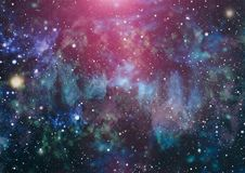 Milky way cosmic background. Star dust and pixie dust glitter space backdrop. Space stars and planet conceptual image. Royalty Free Stock Images