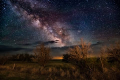 Milky Way In the Country Royalty Free Stock Image