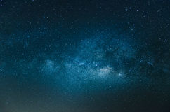 The milky way. With dark blue sky Stock Image