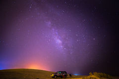 Milky Way from the Desert Royalty Free Stock Photography