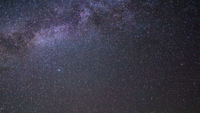 Milky Way disappear with the dawn. Pamir, Tajikis stock video