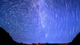 Milky Way is far off. Line. Time Lapse. 4K stock video footage
