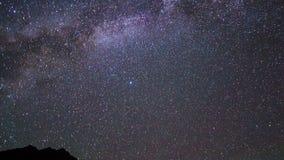 Milky Way is far off. Pamir, Tajikistan. 4K Stock Photo