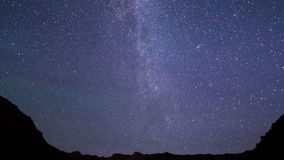 Milky Way is far off. Time Lapse. 4K stock footage