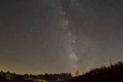 Milky Way with Fisheye Royalty Free Stock Images