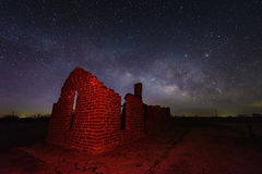Milky way at Fort Griffin, Texas USA Royalty Free Stock Photography