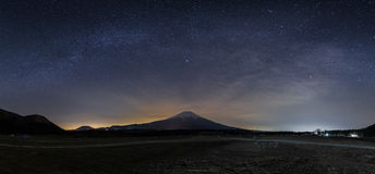 Milky way with Fuji Royalty Free Stock Photo