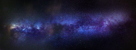 Milky Way. A full panorama of the Milky Way stock photography