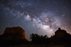 Free Milky Way Galaxy And Night Sky Royalty Free Stock Images - 91475079