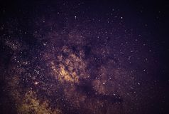 Milky Way Galaxy Background Close-up of Milky way. Long exposure Stock Images
