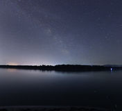 Milky Way galaxy beautiful night sky over the river Royalty Free Stock Photography