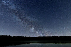 Milky Way galaxy beautiful night sky Stock Photo