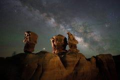 Free Milky Way Galaxy Behind Goblins In Devils Garden Royalty Free Stock Photo - 195522795