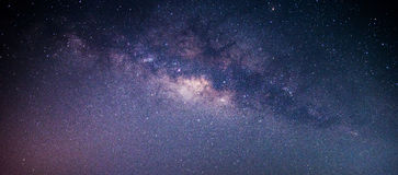 The milky way galaxy. The center of the milky way galaxy, Long exposure photograph royalty free stock image