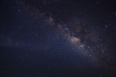 Milky way galaxy, Long exposure photograph Royalty Free Stock Photos