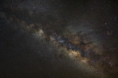 Milky way galaxy, Long exposure photograph,with grain Stock Image