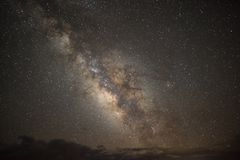 Milky Way Galaxy. With stars at the Grand Canyon in Arizona stock image