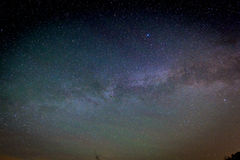 Milky Way Galaxy on nigh sky Stock Photos