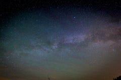 Milky Way Galaxy on nigh sky Stock Photos