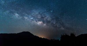 Milky Way galaxy. Night Sky with Amazing Stars stock photo