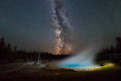 Milky Way Galaxy over Silex Spring Royalty Free Stock Image