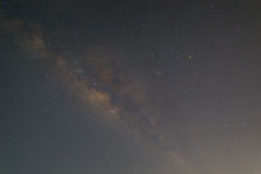 Milky way. Galaxy, Please consider Long exposure photograph. with grain. high iso Royalty Free Stock Photo