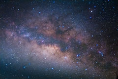 The milky way galaxy's center, Long exposure photograph. royalty free stock photos