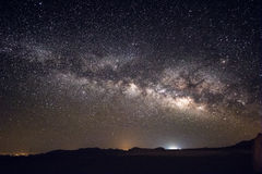 Milky Way Galaxy and stars above Negev Desert Israel Stock Image