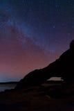 Milky Way Galaxy and Stars in Night Sky. Royalty Free Stock Photos