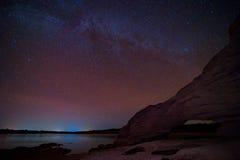 Milky Way Galaxy and Stars in Night Sky. Royalty Free Stock Photo