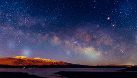 Milky way galaxy. With stars and space dust in the universe Stock Images