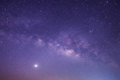 Milky way galaxy with stars and space dust in the universe, Long. Exposure photograph Stock Photos