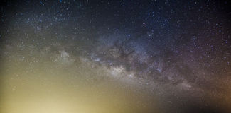 Milky way galaxy with stars and space dust in the universe, Long. Exposure photograph Stock Photo